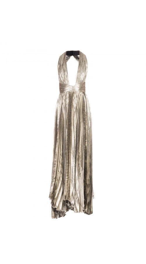 Halter Neck Metallic Adina Gown