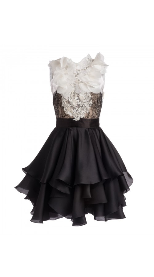 Petal Embroidered Mini Dress