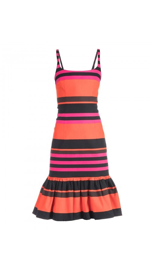 Multicolor Stripe Mini Dress