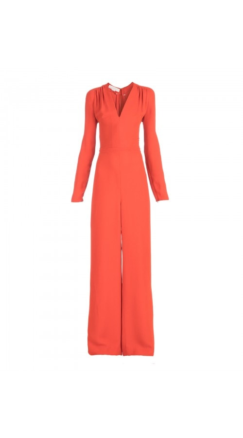 Long Sleeve Burnt Orange Jumpsuit