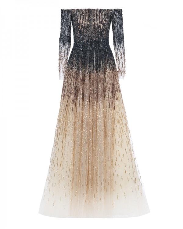 Strapless Dégradé Ball Gown