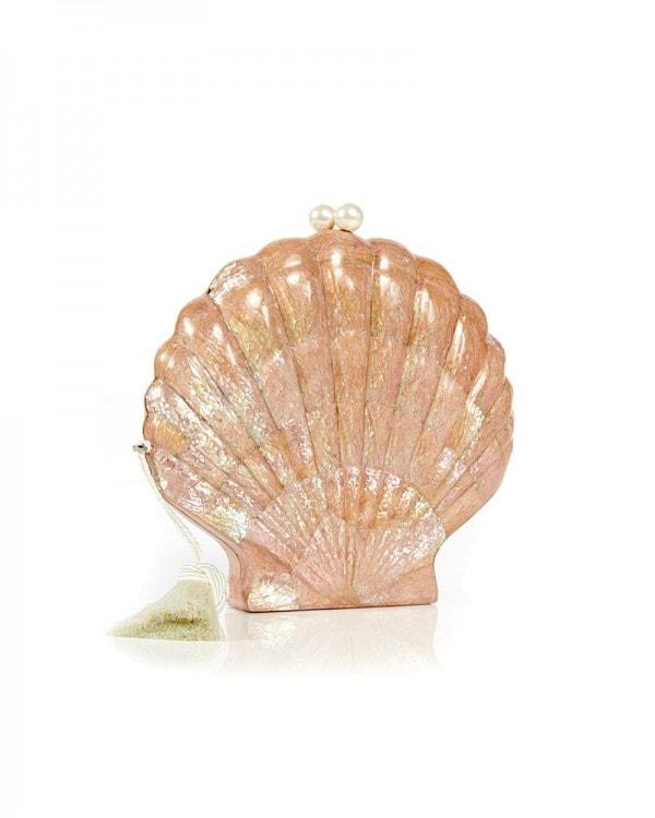 Le Sirenuse Shell Clutch