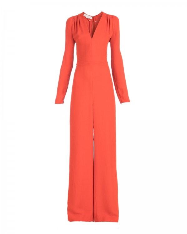 Long Sleeve Burnt Orange Jumpsuit