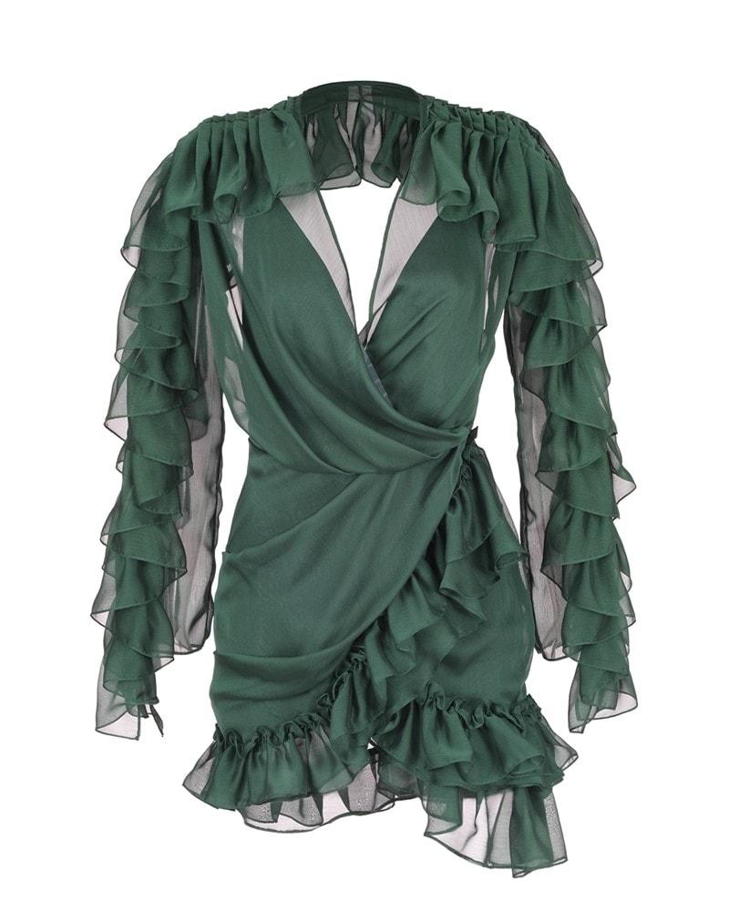 8967dc681 NOVA OCTO | Ruffled Chiffon Mini Dress